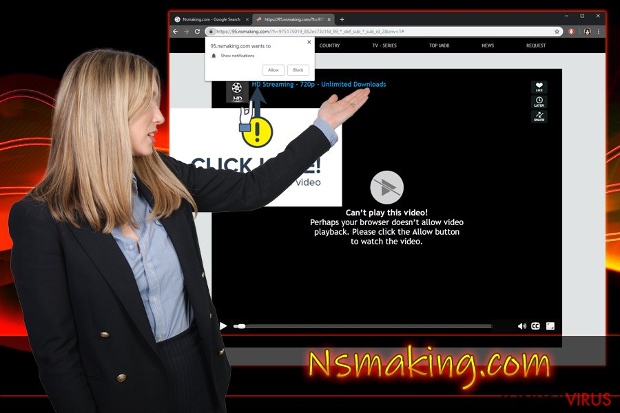 Nsmaking.com push melding virus