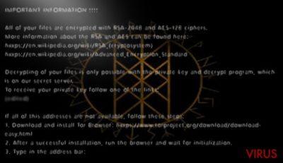 Het Odin virus versleutelt bestanden gemakkelijk
