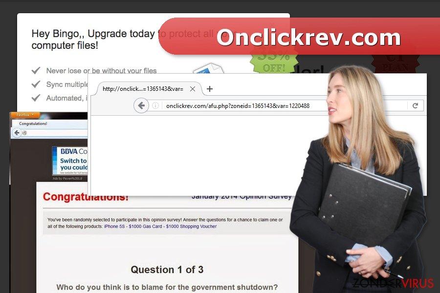 Afbeelding van het Onclickrev.com virus