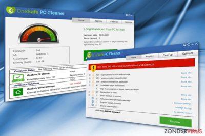 De illustratie van OneSafe PC Cleaner
