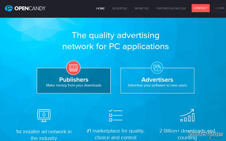 OpenCandy advertenties snapshot