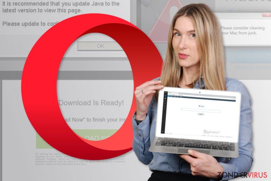 Afbeelding van het Opera omleiding virus