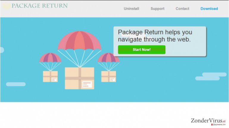 Package Return advertenties snapshot