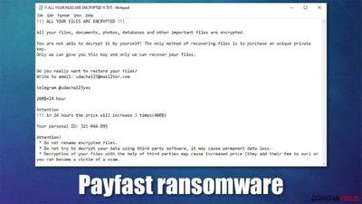 Payfast gijzelsoftware