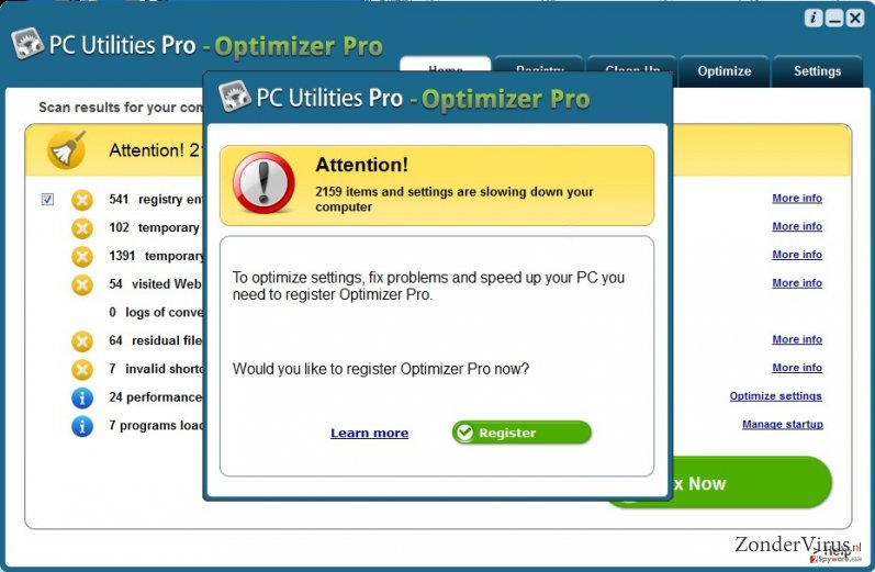PC Utilities Pro – Optimizer Pro snapshot
