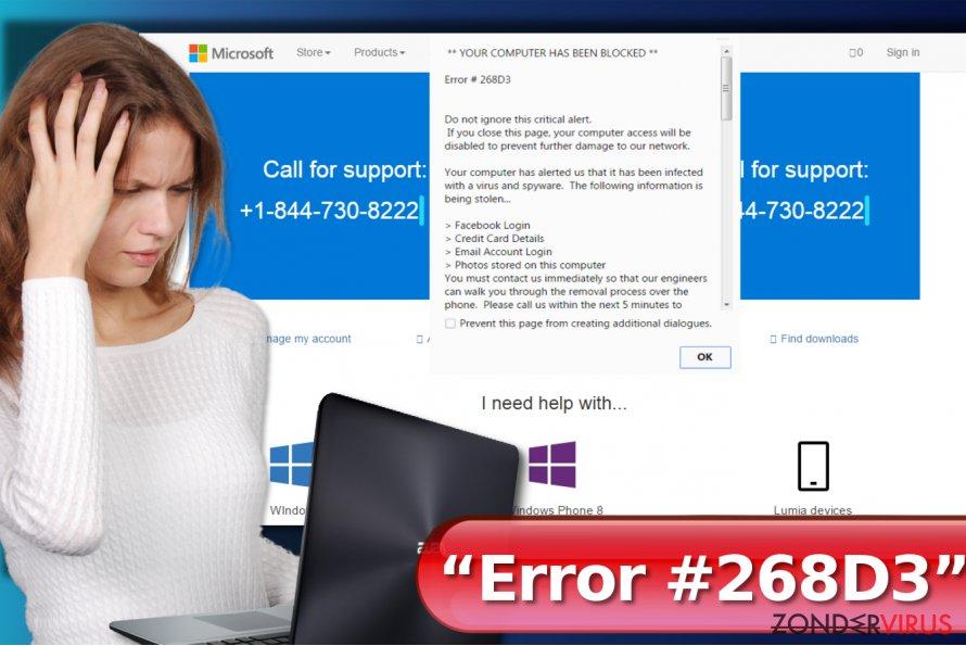 """Error #268D3"" virus snapshot"