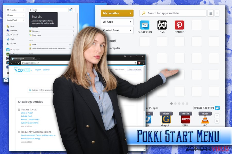 Het Pokki Start Menu virus