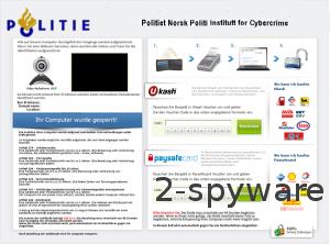 Politie Eenheid Voor De Bestruding Cybercrime Ukash virus snapshot