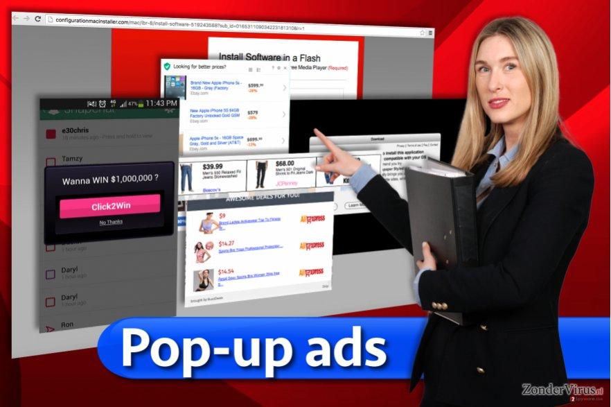 Pop-up advertenties snapshot