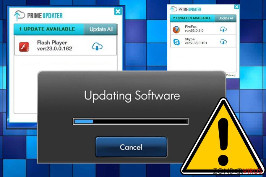 Prime Updater-virus snapshot
