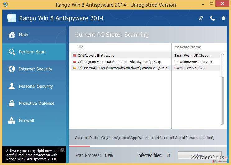 Rango Win 7 Antispyware 2014 snapshot