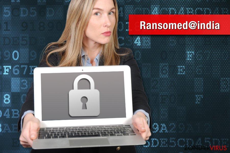 Foto van het Ransomed@india gijzelsoftware-virus