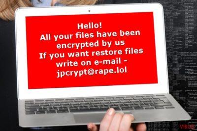 Afbeelding van het Rapid-gijzelsoftware virus