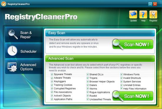 Registry Cleaner Pro snapshot
