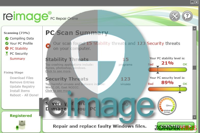 Reimage virus snapshot