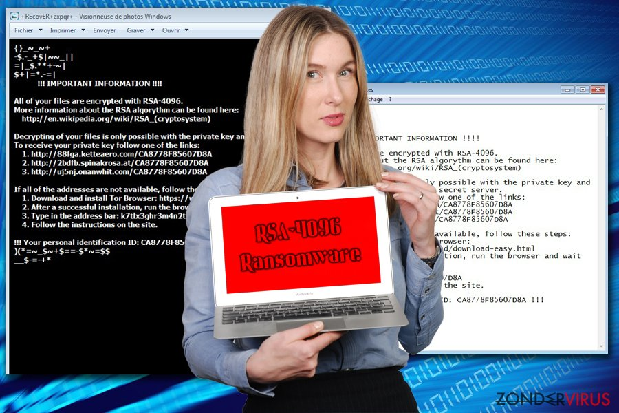 RSA-4096 Ransomware snapshot
