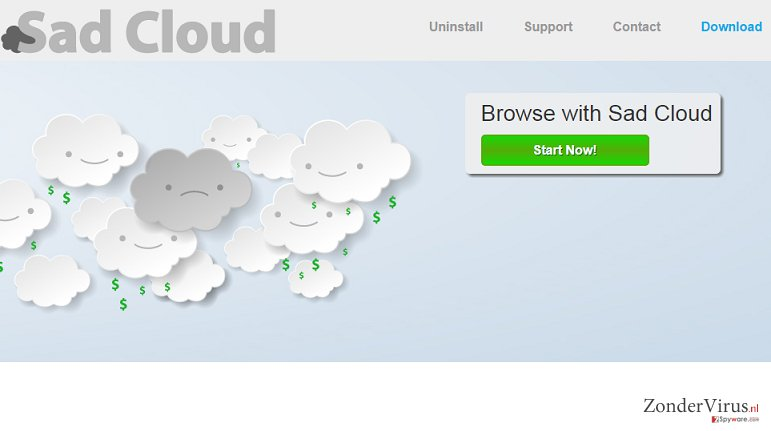 Sad Cloud advertenties snapshot