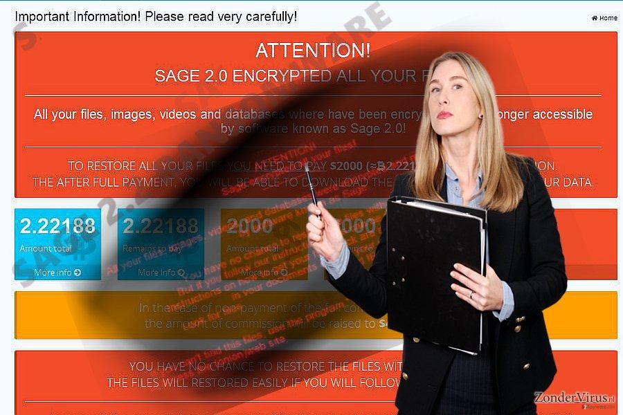 De afbeelding van het Sage 2.2-virus
