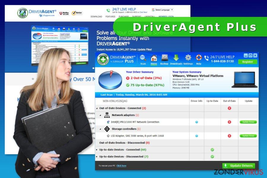 het screenshot van DriverAgent Plus