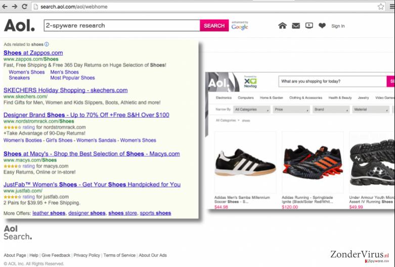 Search.aol.com scam search engine