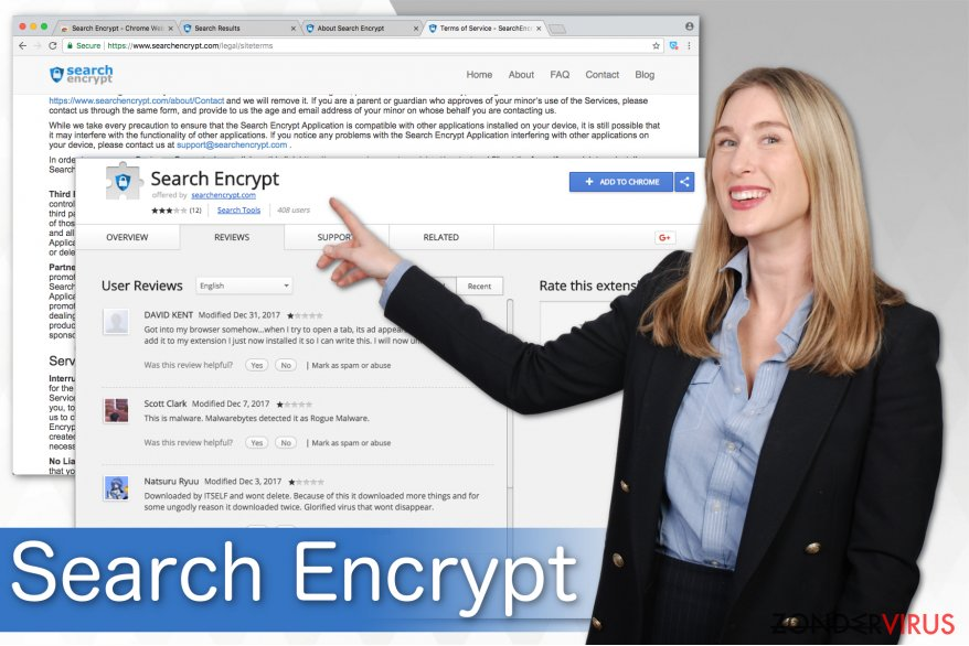 Illustratie van Search Encrypt
