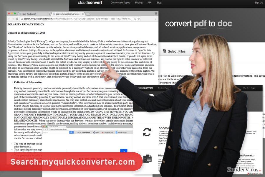 De afbeelding van het Search.myquickconverter.com-virus