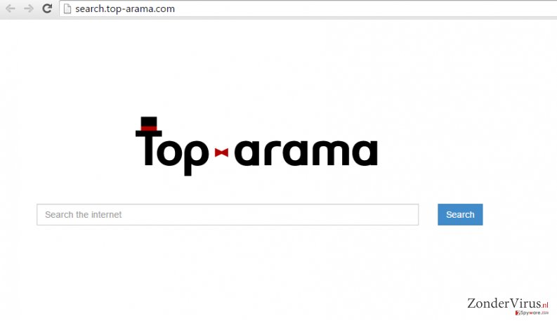 An example of Search.top-arama.com redirect virus