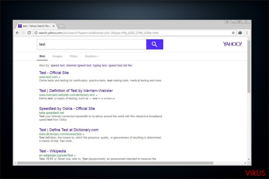 search.yahoo.com omleiding snapshot