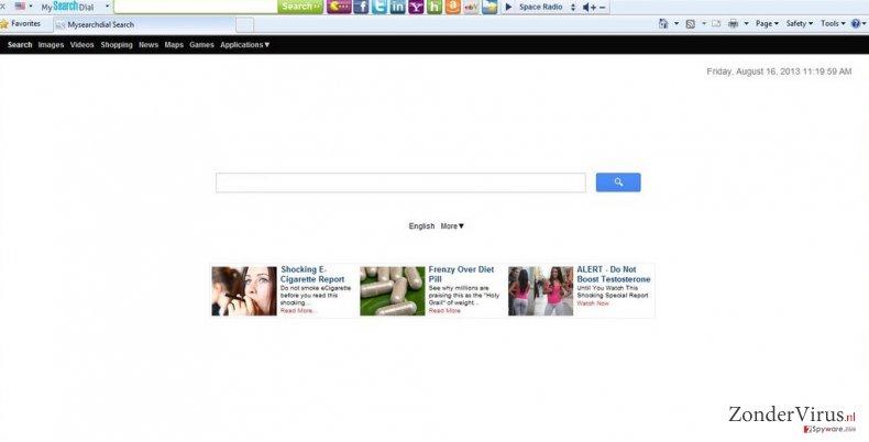 Start.mysearchdial.com omleidingen snapshot