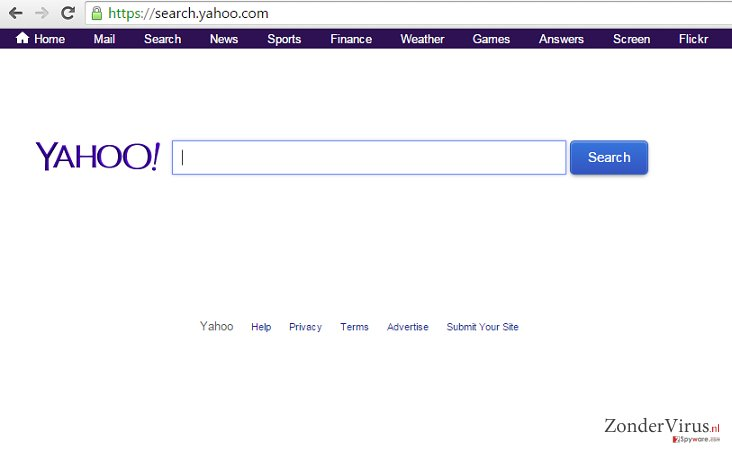 The example of search.yahoo.com redirect issue