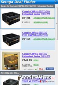 Setaga Deal Finder snapshot
