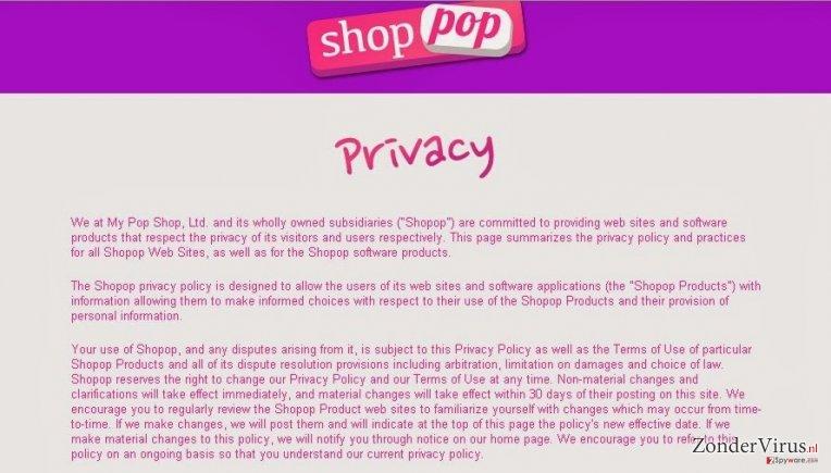 Shopop virus snapshot