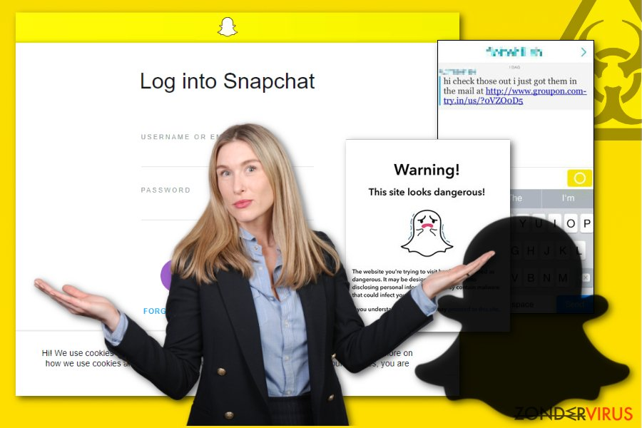 Snapchat malware afbeelding