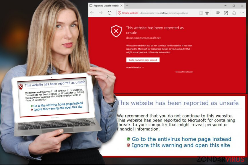 """Het """"This website has been reported as unsafe""""-virus"""
