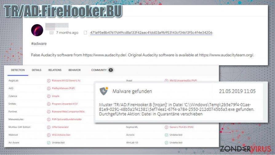 Distributie van TR/AD.FireHooker.BU