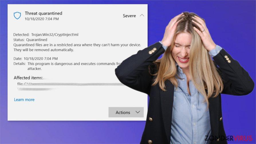 Het Trojan:Win32/CryptInject!ml-virus