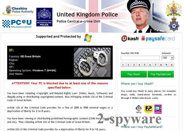UK Police virus snapshot