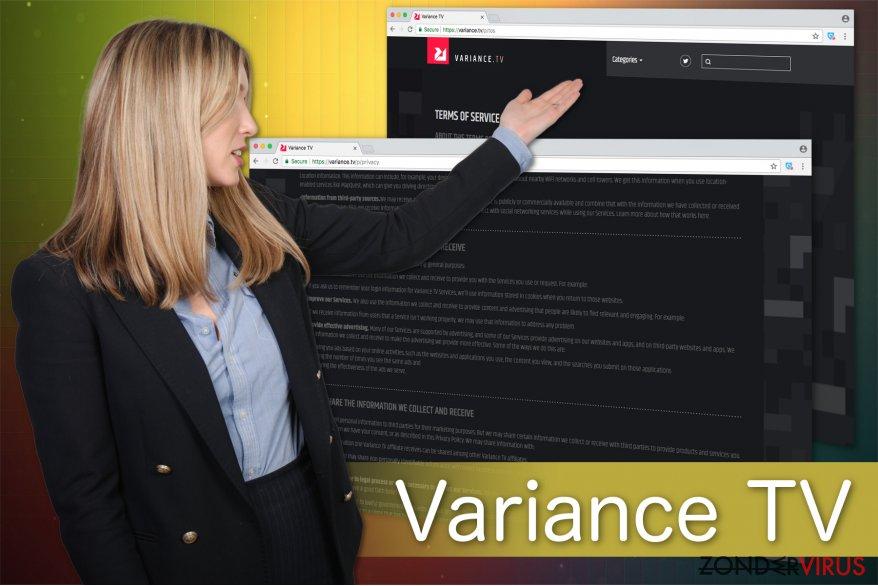 Afbeelding van het Variance TV virus