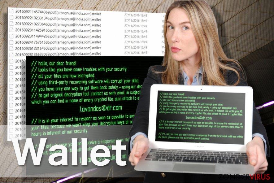 Afbeelding van het Wallet-gijzelsoftware-virus