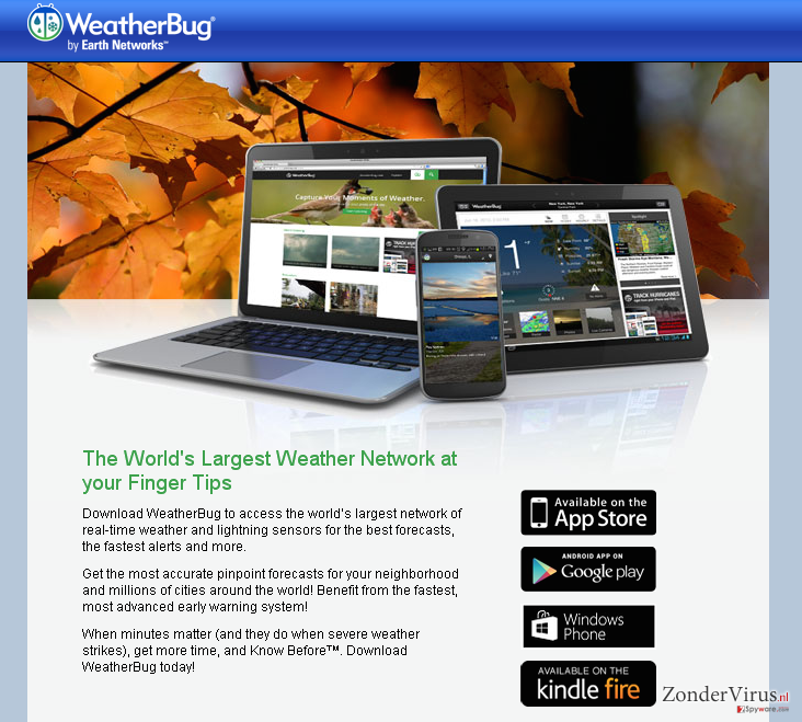 Advertenties door Weather Bug snapshot
