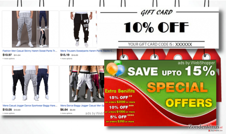 ads by WebShopper adware