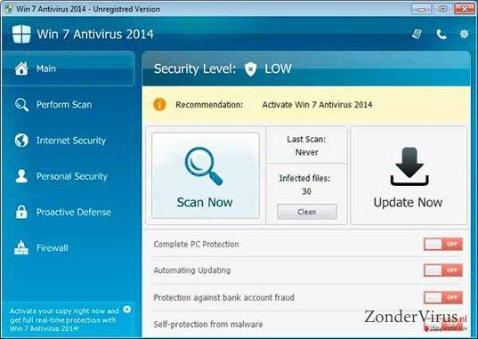 Win 7 Antivirus 2014 snapshot