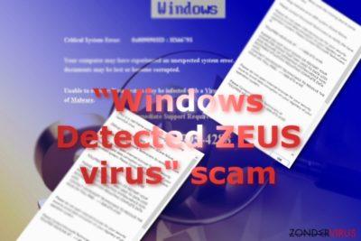 Afbeelding van de Windows Detected ZEUS scam