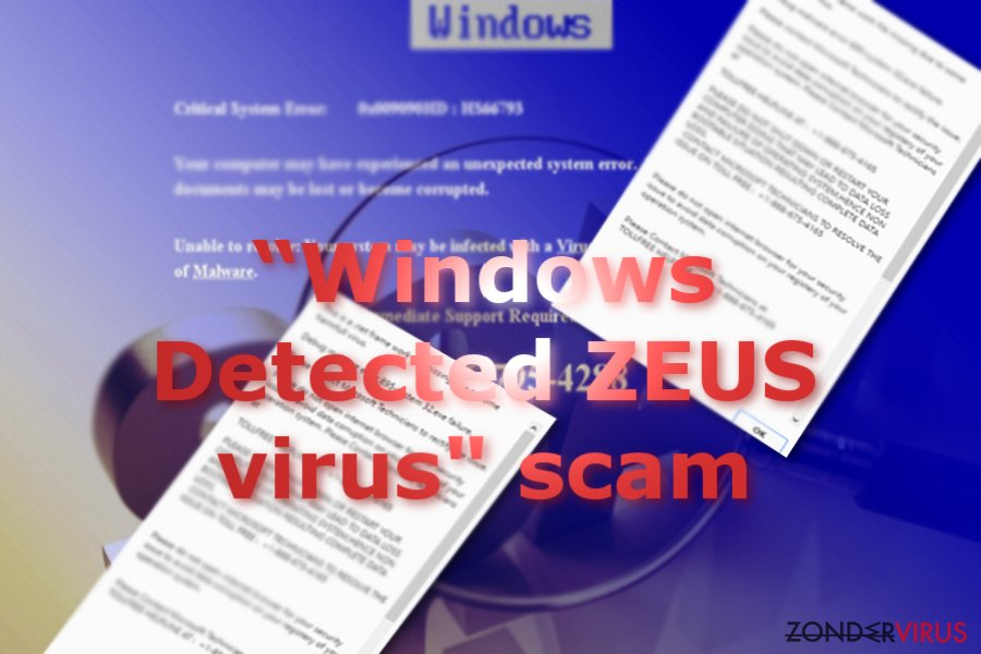 Afbeelding van de Windows Detected ZEUS scam