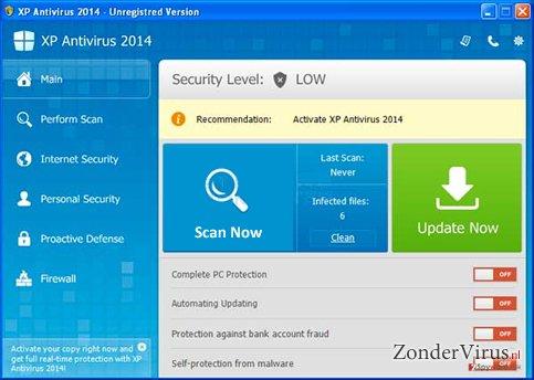 XP Antispyware 2014 snapshot