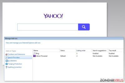 Afbeelding van het Yahoo Powered virus