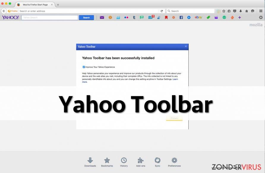 Yahoo Werkbalk snapshot
