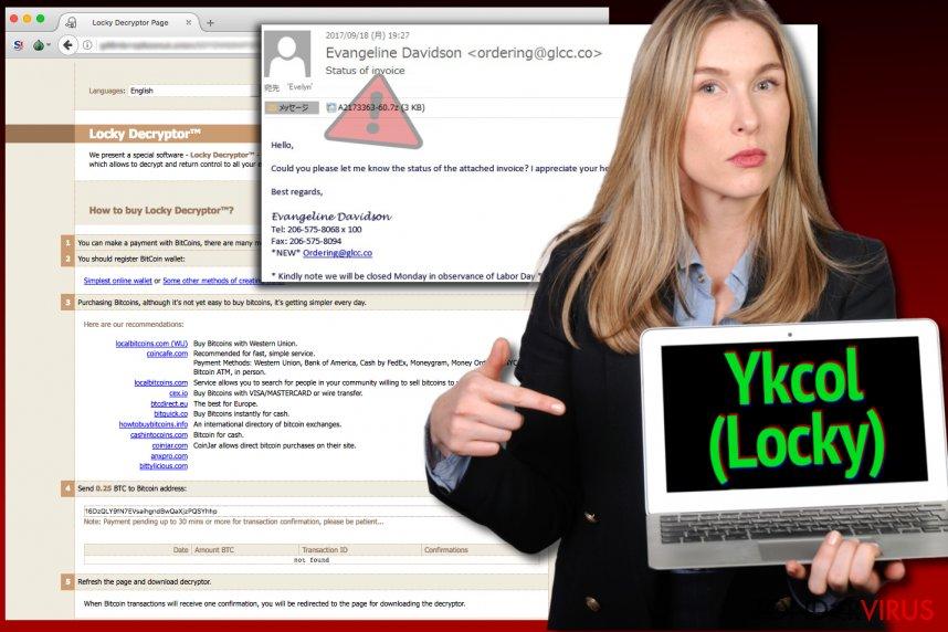 Het Locky-virus noemt zichzelf nu Yckol
