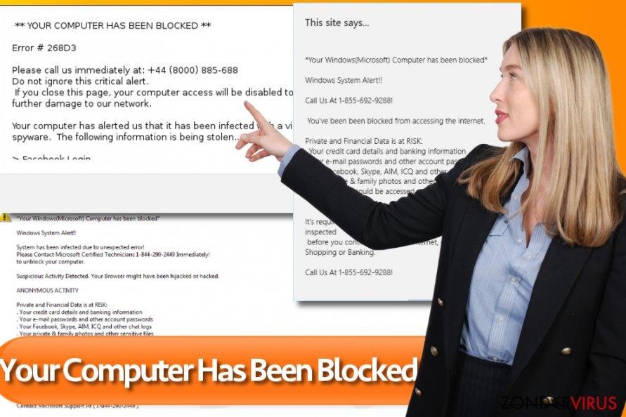 """""""Je computer werd geblokkeerd"""" snapshot"""