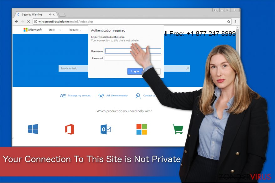 Your Connection To This Site is Not Private scam